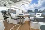 34 LX Convertible Starboard L-Lounge with Table
