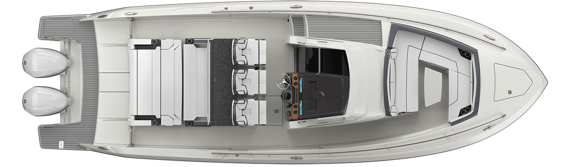34 LS Exterior Plan View Without Hardtop Seat Down
