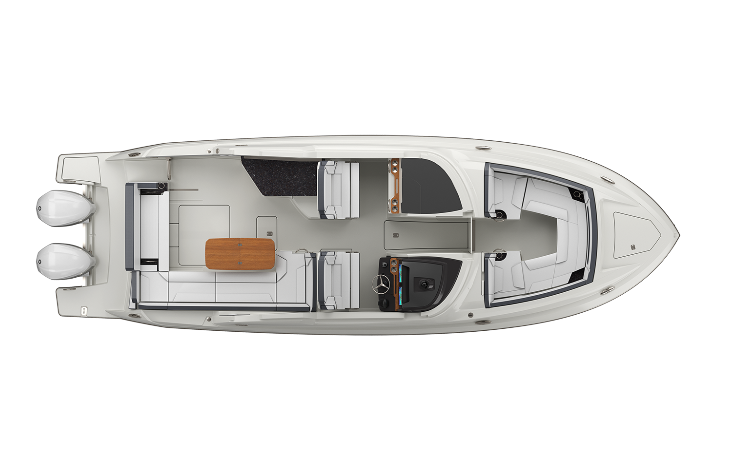 34 LX Exterior Plan View Without Hardtop