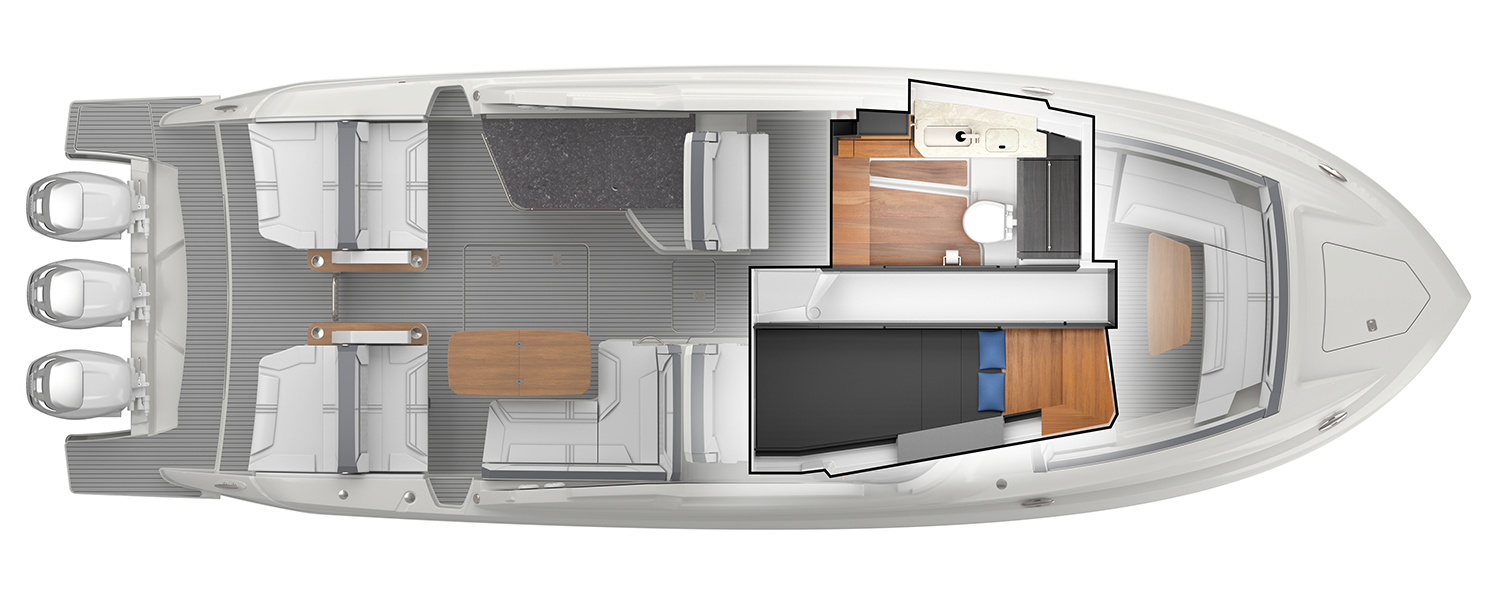 38 LX Interior Plan View