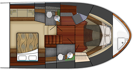 53 Coupe Standard Cabin Plan View