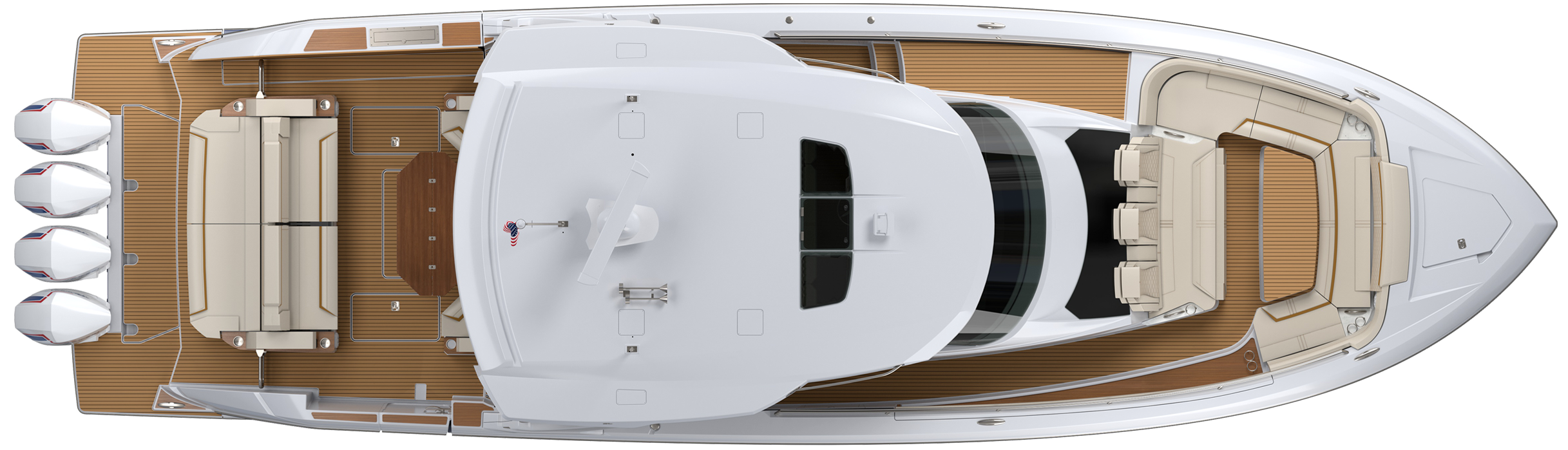 38 LS Exterior Plan View With Hardtop
