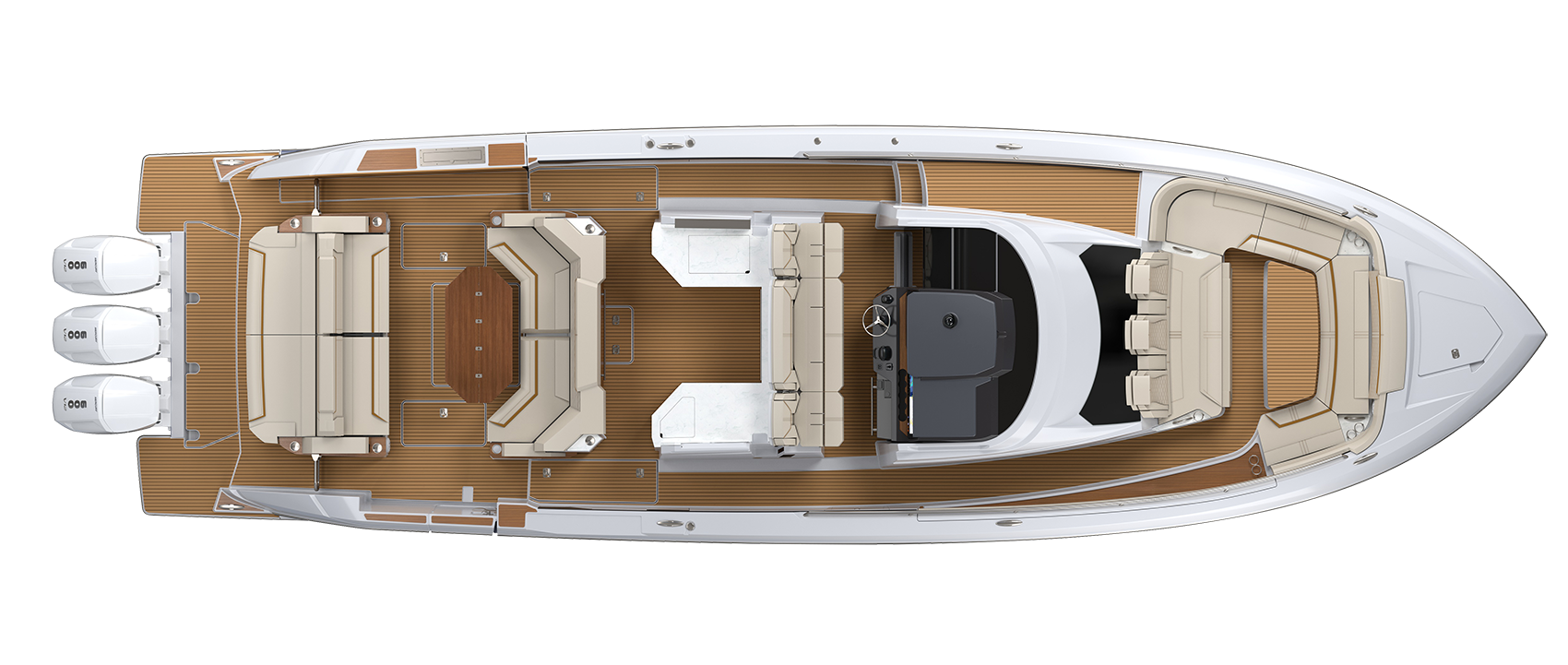 38 LS Exterior Plan View Without Hardtop